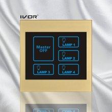 4 Gangs Lighting Touch Schalter mit Master Control Acryl Rahmen (SK-LT100L4-M)
