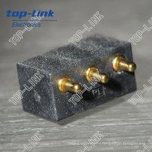 Разъем Pogo Pin (крепление на печатной плате, 3 контакта, прямой угол)