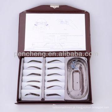 Acessórios para tatuagem - Perfis 12 tipos de estojo de estêncil Kit para sobrancelhas de design