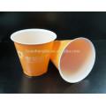 Taza plástica disponible de la capa doble clara 6oz