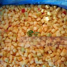 IQF Замороженные кубики абрикоса в золотом солнце