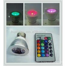 El rgb caliente mr16 del dmx de la venta 3w de la alta calidad llevó la luz 3w del punto