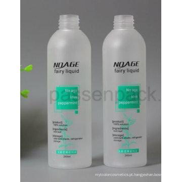 Garrafa plástica 250ml geada do animal de estimação para o empacotamento cosmético do líquido