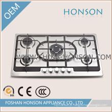 Boa qualidade 5 queimadores a gás fogão para utensílios de cozinha