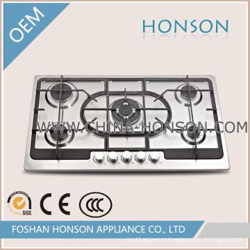 Хорошее качество 5 горелки газовой плитой для кухонный прибор