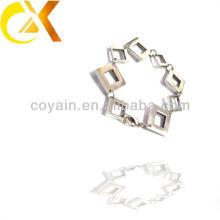 Joyas de acero inoxidable cuadrados de la pulsera de las mujeres
