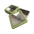 PVC Window Square Shape Metal Gift Tin Container Wholesale