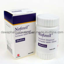 Bon effet pour le traitement du VIH 300mg Ténofovir Disoproxil Fumarate Tablet