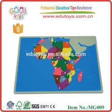 Juguetes promocionales Mapa educativo Puzzles Juguetes de montaje de madera NUEVO Mapa de Puzzle de África
