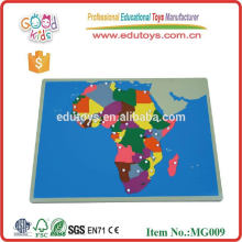 Promotional Toys Educational Map Puzzles Wooden Assembling Toys NEW Africa Puzzle Map