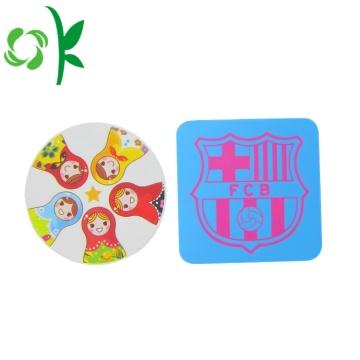 Лучший круглый силиконовый Cute Cup Коврик для коврика