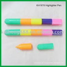 Cinco cores em um marca-texto