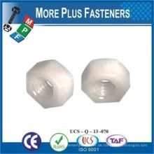 Made in Taiwan Schwarz Metrische Nylon Hex Natürliche Finsh Jam Kunststoff Sechskantmutter