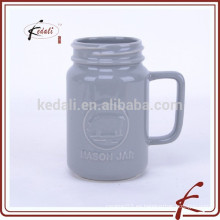 Taza cerámica del JARRO de MASON de 500 ML