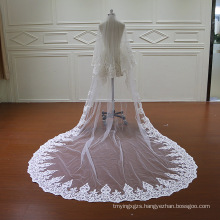 Beading Lace Two Layers Wedding Veil