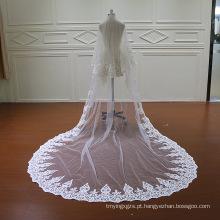 Perolização laço duas camadas véu do casamento