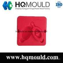 Molde de inyección de tapa rectangular de plástico
