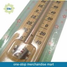 Bilik dinding cuaca kayu sensitif Taman termometer