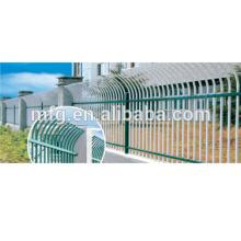 EU market powder coated fence/guard bar or galvanized cast iron fence