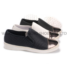 Zapatos de mujer ocio PU zapatos con suela de cuerda Snc-55010