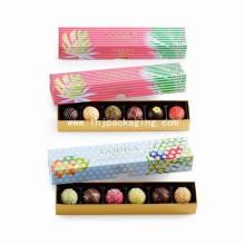 Noble Simplestyle Gift Packaging Paper Boîte à chocolat avec estampage de feuille