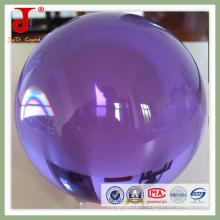 Bola de cristal cristal transparente púrpura (JD-CB-101)
