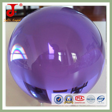 Transparent Purple Crystal Glass Ball (JD-CB-101)