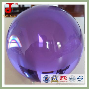 Transparent Purple Crystal Glass Ball (JD-CB-101)
