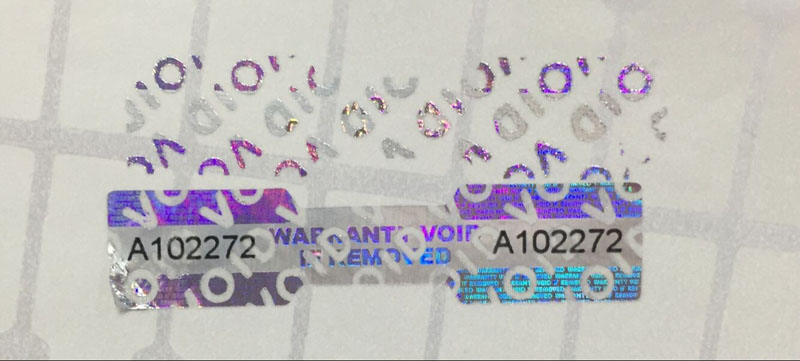 3D Hologram Label Void If Removed Sticker