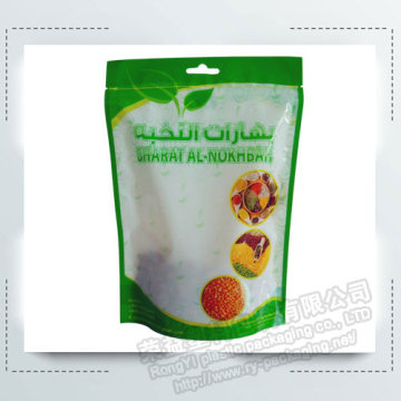 Cereal Stand up Food Zipper Packaging Pouches