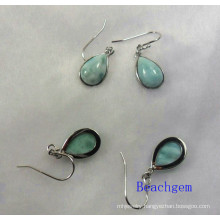 Sterling Silver Larimar Jewellery Earrings (E1196)