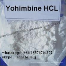Poudre d'amélioration masculine naturelle Chlorhydrate de Yohimbine CAS 65-19-0 Yohimbine HCl