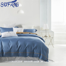 Nantong wholesale bed linen 100% cotton 60S embroidery bed sheet set/ hotel bedding set /hotel linen