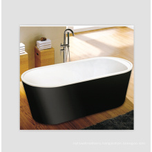 Windsor Imperial Black 1590 X 750mm Double Ended Freestanding Bath