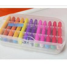 24 color Pastel colour crayon printing wax set