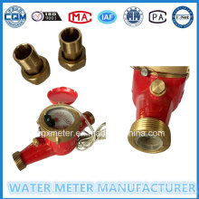 Brass Water Meter with Pulse Output