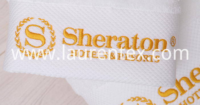 cotton towels with logos