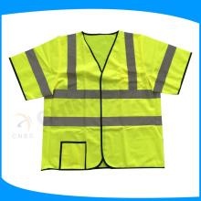 EN certifié Classe 3 gilet de sécurité à manches courtes, vêtements de travail PPE