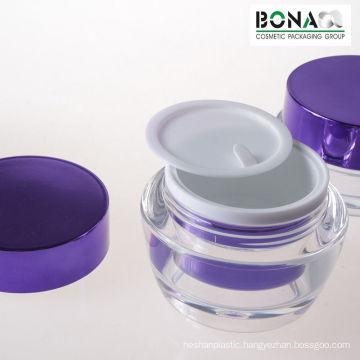 15g 30g 50g Shiny Purple Acrylic Cream Jar Plastic Container