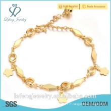 Bijoux en gros bracelet en mariage plaqué or avec cloches