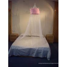 Pink Coronal Imperial Com Rede De Mosquitos Top De Bola; Canopy Para Crianças