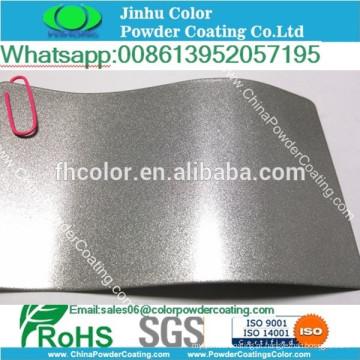 Spray electrostático Ral 9006 revestimento em pó metálico