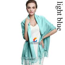 2015 Pingentes Pingente de cor sólida Moda lenço de borla Pashmina caxemira xale Envolva Meninas Meninas Scarf Acessórios 40Colors