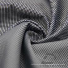 Veste imperméable à l'eau et au vent Tissé Dobby Plaid Jacquard 38% Polyester 62% Nylon Blend-Weaving Intertexture Fabric (H037)