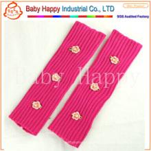 Шерсть Розовая пряжа Вязаные ножные подогреватели для девочек