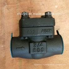 API602 Кованая углеродистая сталь A105 Резьбовой конец NPT Обратный клапан