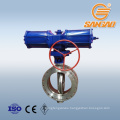 wcb a216 cf8m c95800 dn250 butterfly valve pneumatic actuators wafer butterfly valve double offset pneumatic
