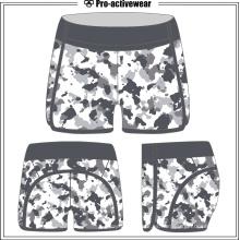 Pantalones cortos del entrenamiento del gimnasio de los deportes del superventas de las mujeres del poliester