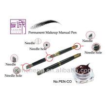 Pluma manual profesional del tatuaje y pluma cosmética del tatuaje