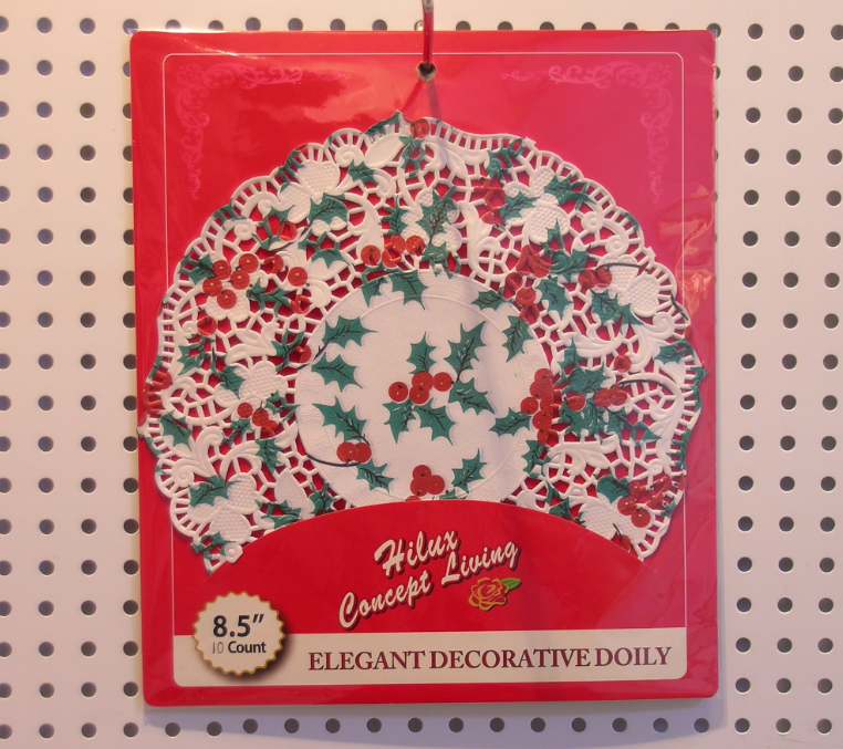 Printed paper doily with back card